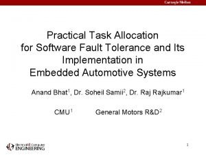Practical Task Allocation for Software Fault Tolerance and