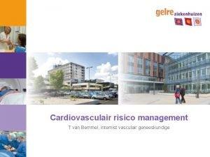 Cardiovasculair risico management T van Bemmel internist vasculair