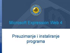 Udbenik informatike za 7 razred Microsoft Expression Web