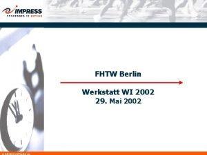 FHTW Berlin Werkstatt WI 2002 29 Mai 2002