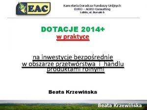 Kancelaria Doradcza Funduszy Unijnych EURO AGRO Consulting Lublin
