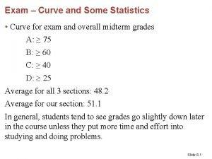 Exam Curve and Some Statistics Curve for exam