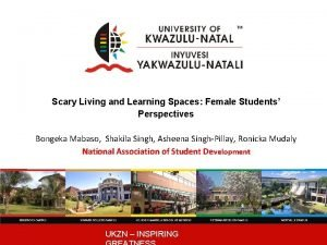 Scary Living and Learning Spaces Female Students Perspectives