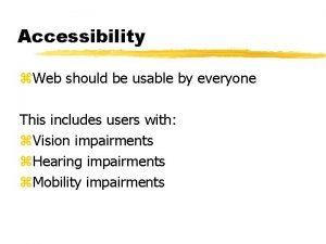 Accessibility z Web should be usable by everyone