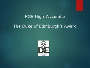 RGS High Wycombe The Duke of Edinburghs Award