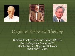 Cognitive Behavioral Therapy Rational Emotive Behavior Therapy REBT
