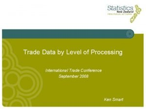 Trade Data by Level of Processing International Trade