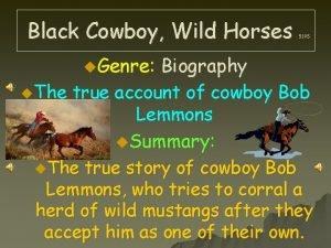 Black Cowboy Wild Horses u Genre 519 S