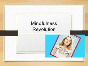 Mindfulness Revolution VIDE Mindfulness ISSN 1868 8527 Description