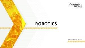 ROBOTICS Robotics Safety 2 Previous Accidents From OSHA
