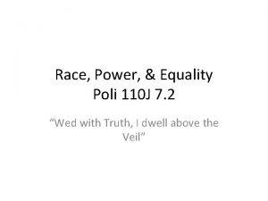 Race Power Equality Poli 110 J 7 2