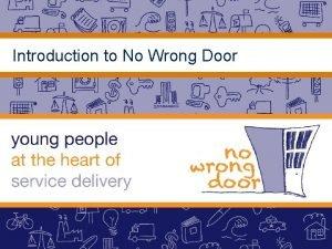 Introduction to No Wrong Door The No Wrong