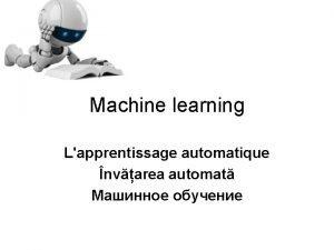 Machine learning Lapprentissage automatique nvarea automat Domeniul de