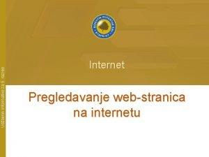 Udbenik informatike za 5 razred Internet Pregledavanje webstranica