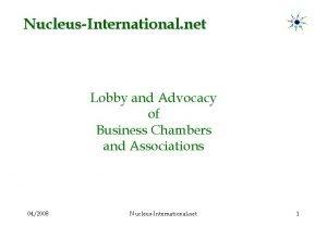 NucleusInternational net Lobby and Advocacy of Business Chambers