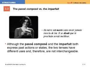 3 3 The pass compos vs the imparfait