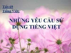 Tit 69 Ting Vit NHNG YU CU S