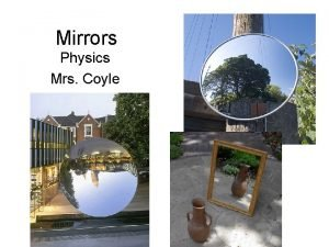 Mirrors Physics Mrs Coyle Plane Mirror dido Plane