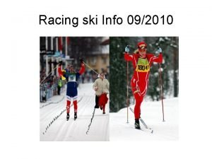 Racing ski Info 092010 Racing ski stiffness measurement