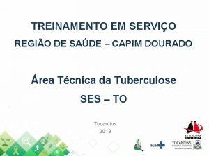 TREINAMENTO EM SERVIO REGIO DE SADE CAPIM DOURADO