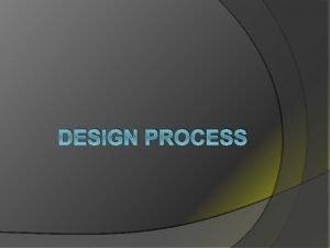 DESIGN PROCESS Web Design Process Planning for Purpose