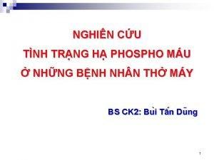 NGHIN CU TNH TRNG H PHOSPHO MU NHNG