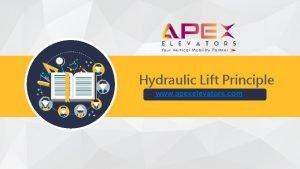 Hydraulic Lift Principle www apexelevators com Hydraulic Lift