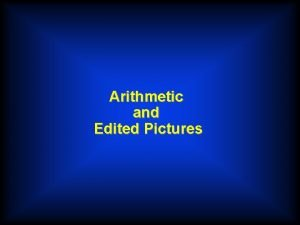 Arithmetic and Edited Pictures Arithmetic Verb Template u