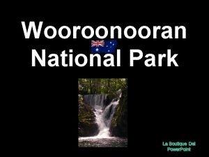 Wooroonooran National Park Wooroonooran National Park um parque