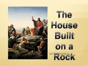 The House Built on a Rock Lesson 12