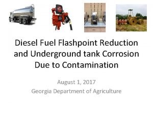 Diesel Fuel Flashpoint Reduction and Underground tank Corrosion