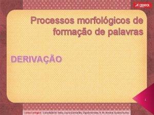 Processos morfolgicos de formao de palavras DERIVAO 1