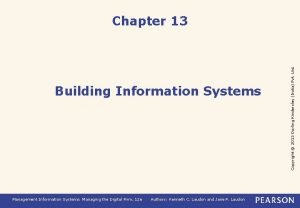 Building Information Systems Management Information Systems Managing the