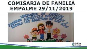 COMISARIA DE FAMILIA EMPALME 29112019 COMISARIA DE FAMILIA