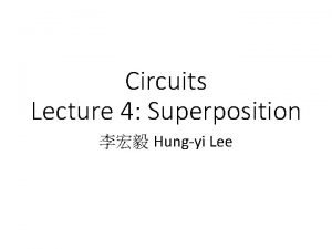 Circuits Lecture 4 Superposition Hungyi Lee Outline Matrix