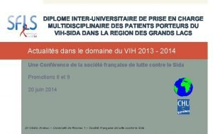 Actualits dans le domaine du VIH 2013 2014