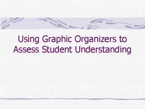 Using Graphic Organizers to Assess Student Understanding Formative