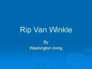 Rip Van Winkle By Washington Irving Washington Irving