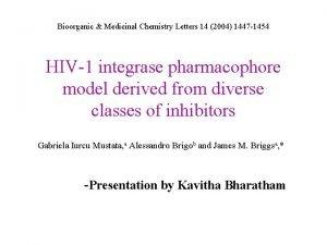 Bioorganic Medicinal Chemistry Letters 14 2004 1447 1454