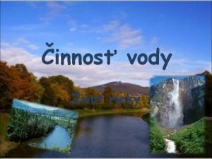 innos vody ivot rieky PRAME PRTOK STIE PRAME