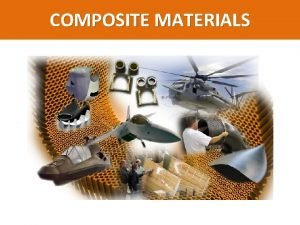 COMPOSITE MATERIALS COMPOSITE MATERIALS A composite material can