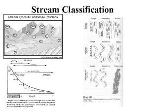 Stream Classification Stream Classification What factors affect stream