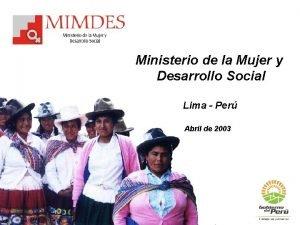 Ministerio de la Mujer y Desarrollo Social Lima