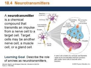 18 4 Neurotransmitters A neurotransmitter is a chemical