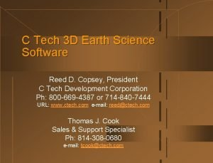 C Tech 3 D Earth Science Software Reed