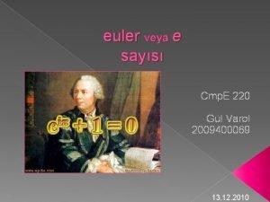 euler veya e says Cmp E 220 Gl