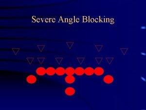 Severe Angle Blocking Severe Angle Blocking Severe Angle