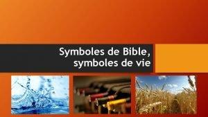 Symboles de Bible symboles de vie Leau symbole