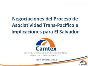 Negociaciones del Proceso de Asociatividad TransPacfico e Implicaciones