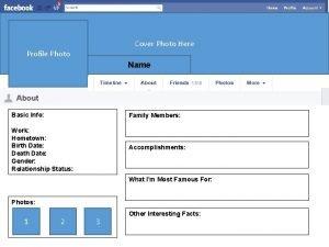 Cover Photo Here Profile Photo Name Basic Info